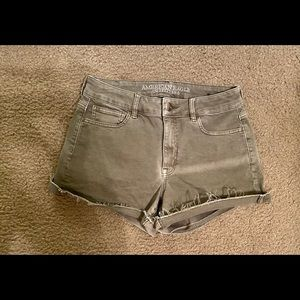 American Eagle High Rise Shortie Olive Green